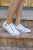 Blowfish Play Sneakers | White Color Washed Cozumel Linen - MOB Fashion Boutique
