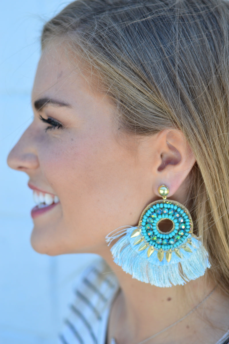 Mint Statement Earrings - MOB Fashion Boutique