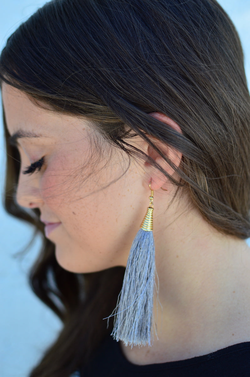 Collarbone Tassel Earrings - MOB Fashion Boutique
