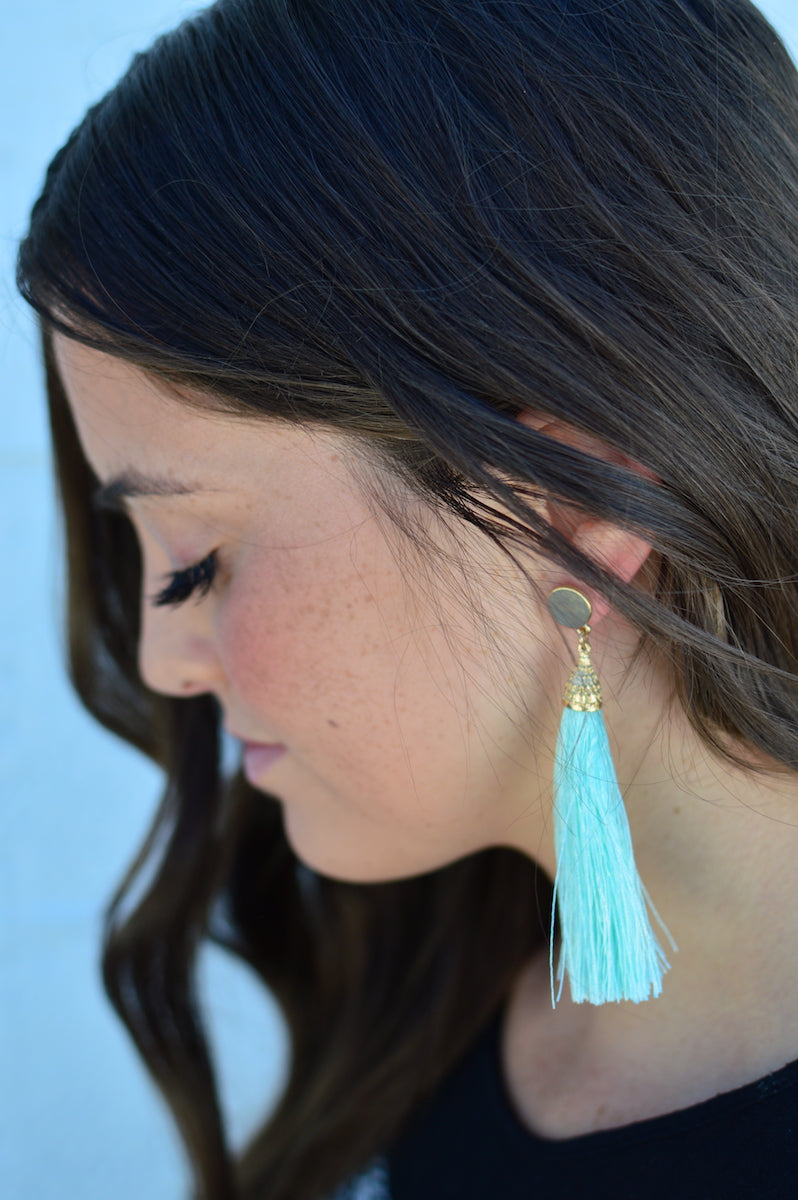Oversized Mint Tassels - MOB Fashion Boutique