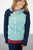 Seafoam Color Block Hoodie (Nursing Friendly) - MOB Fashion Boutique