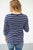 Nautical Stripes 3/4 Sleeve Top - MOB Fashion Boutique