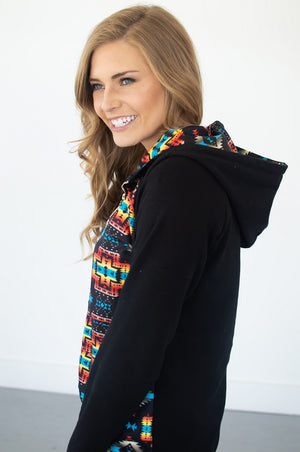 Aztec Half Zip Hoodie [Pre-Order] - MOB Fashion Boutique