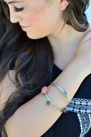 Stone Bangle Bracelets - MOB Fashion Boutique