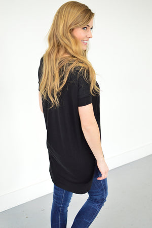 Samantha Tunic | Black - MOB Fashion Boutique