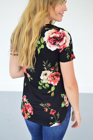 Julia Floral Tee - MOB Fashion Boutique