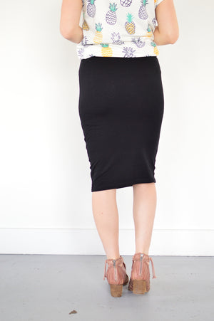 Basic Pencil Skirt | Black - MOB Fashion Boutique