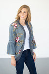 Floral Bell Sleeve Kimono Cardi - MOB Fashion Boutique