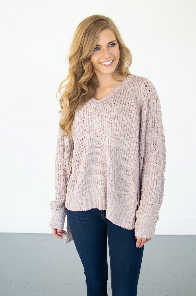 Asymetrical Oversized Sweater - MOB Fashion Boutique