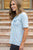 Slouchy Pocket Tee | Ice Blue - MOB Fashion Boutique
