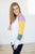 Mardi Gras Color Block Raglan - MOB Fashion Boutique