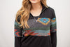 Aztec Pullover Sweater | Black - MOB Fashion Boutique