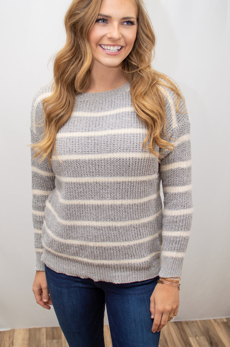 World's Coziest Fuzzy Knit Sweater - MOB Fashion Boutique