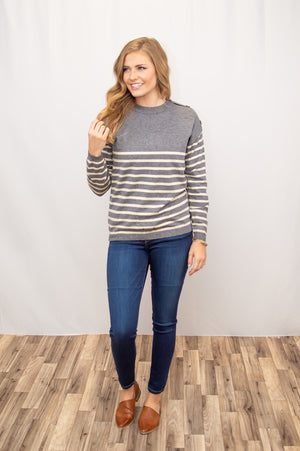 Laurie Striped Sweater - MOB Fashion Boutique