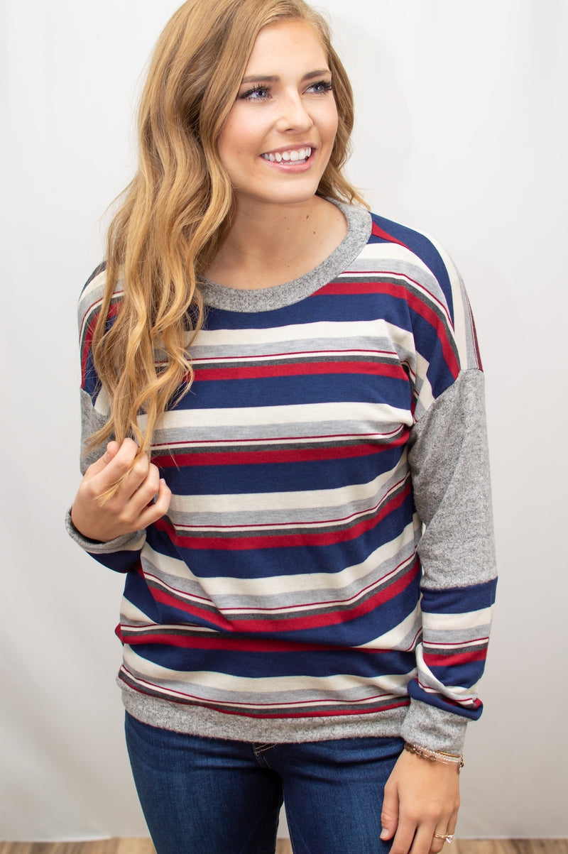 Wear it Proud Striped Sweater - MOB Fashion Boutique