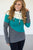 Wanakome Selene Hoodie | Cream/Grey/Turquoise - MOB Fashion Boutique