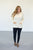 Ivory Spring Quarter Zip Sweater - MOB Fashion Boutique