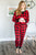 Red and Black Buffalo Plaid Lounge Set - MOB Fashion Boutique