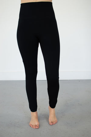 High Waisted Fleece Lined Leggings | 2 Colors - MOB Fashion Boutique