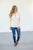 Half Button Cable Knit Sweater - MOB Fashion Boutique