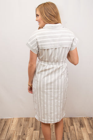 Spring Stripe Dress - MOB Fashion Boutique