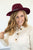 Wide Brim Wool Fedora | 4 Colors - MOB Fashion Boutique