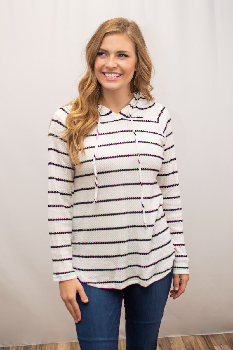 Waffle Knit Spring Hoodie - MOB Fashion Boutique