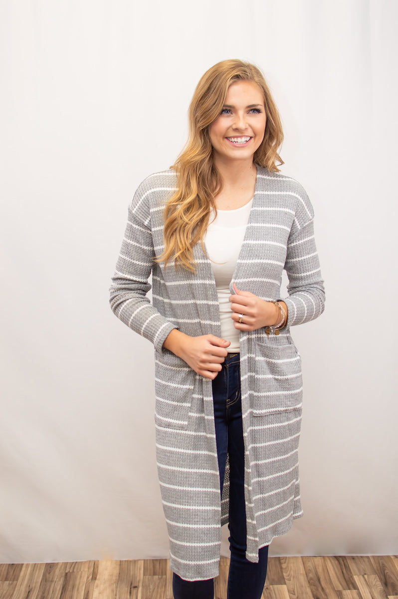 Thermal Duster | Heather Grey - MOB Fashion Boutique
