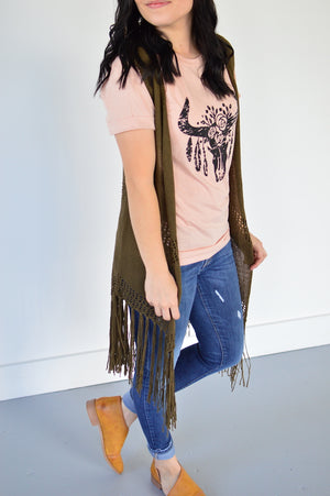 Fringed Out Vest - MOB Fashion Boutique