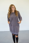 Half Sleeve Ash Tunic - MOB Fashion Boutique