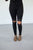 Black Lace Knee Leggings - MOB Fashion Boutique