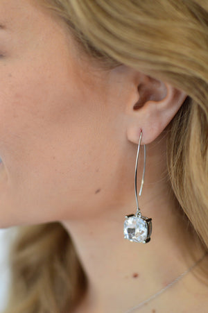 Diamond Drop Earrings - MOB Fashion Boutique