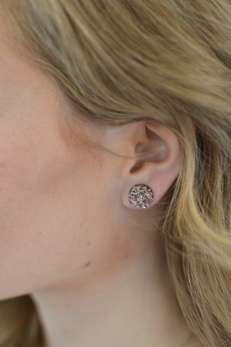 Druzy Studs | Rose Gold - MOB Fashion Boutique