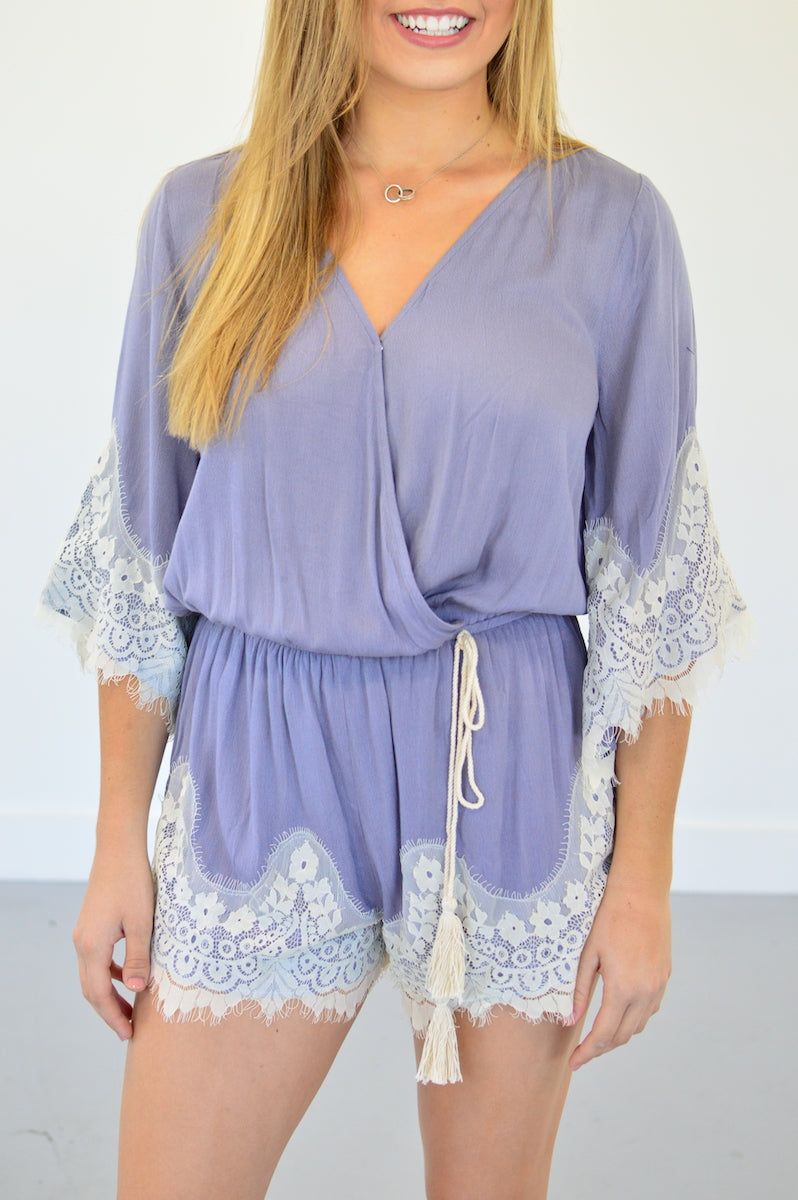 Lace For Days Romper - MOB Fashion Boutique