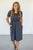 Raelyn Denim Striped Dress - MOB Fashion Boutique