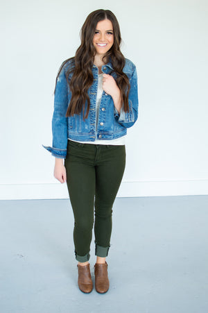 Articles of Society Sarah Denim | Olive - MOB Fashion Boutique