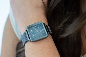 QRTZ Wrist Watch | Square Gunmetal - MOB Fashion Boutique