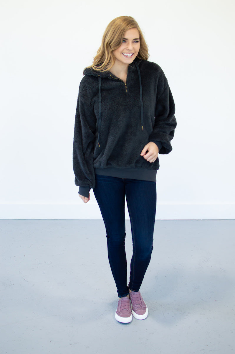 Cozy Up Hoodie Pullover | Charcoal - MOB Fashion Boutique