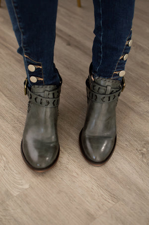 Around Town Bootie | Distressed Charcoal - MOB Fashion Boutique