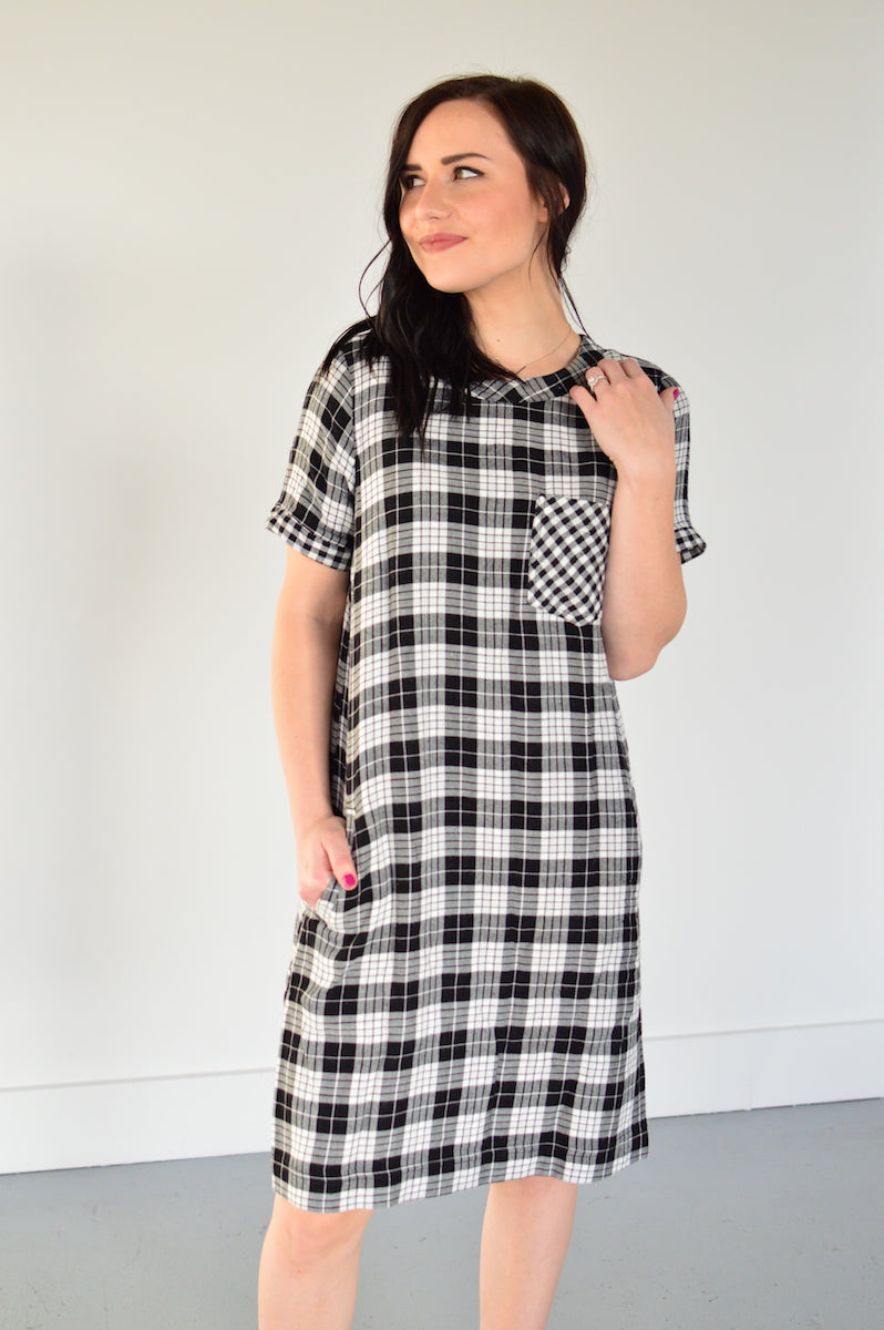 Checkmate Dress - MOB Fashion Boutique