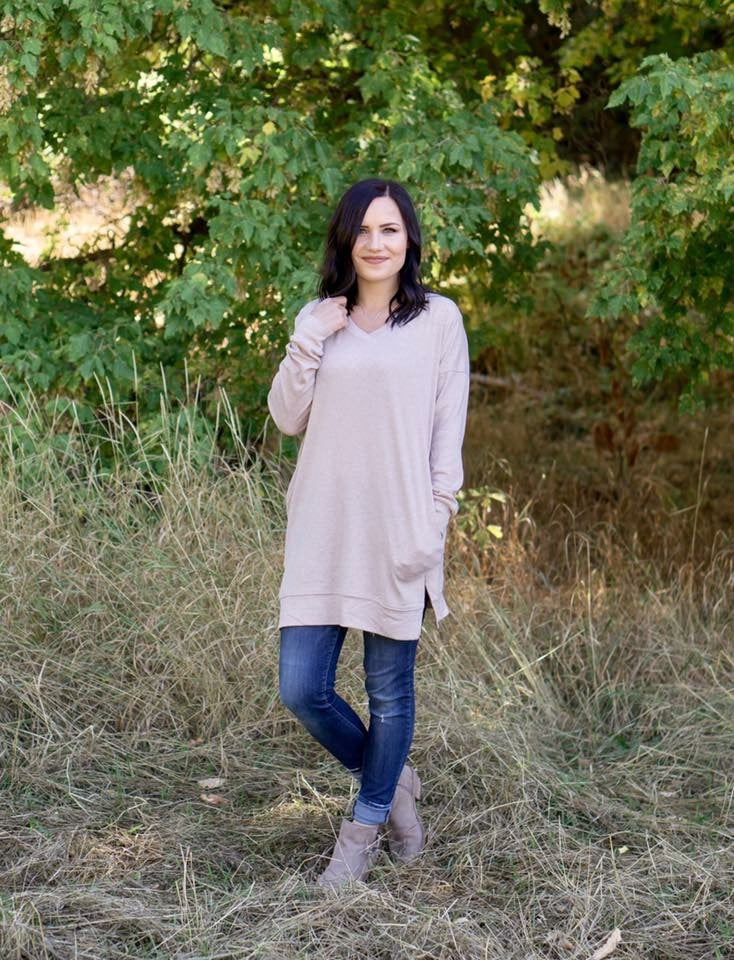 Kimmie Oversized Sweater in Oatmeal - MOB Fashion Boutique