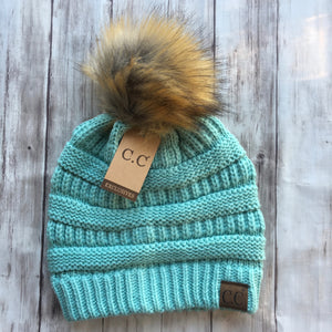 C.C. Beanie WITH Pom | Multiple Colors - MOB Fashion Boutique