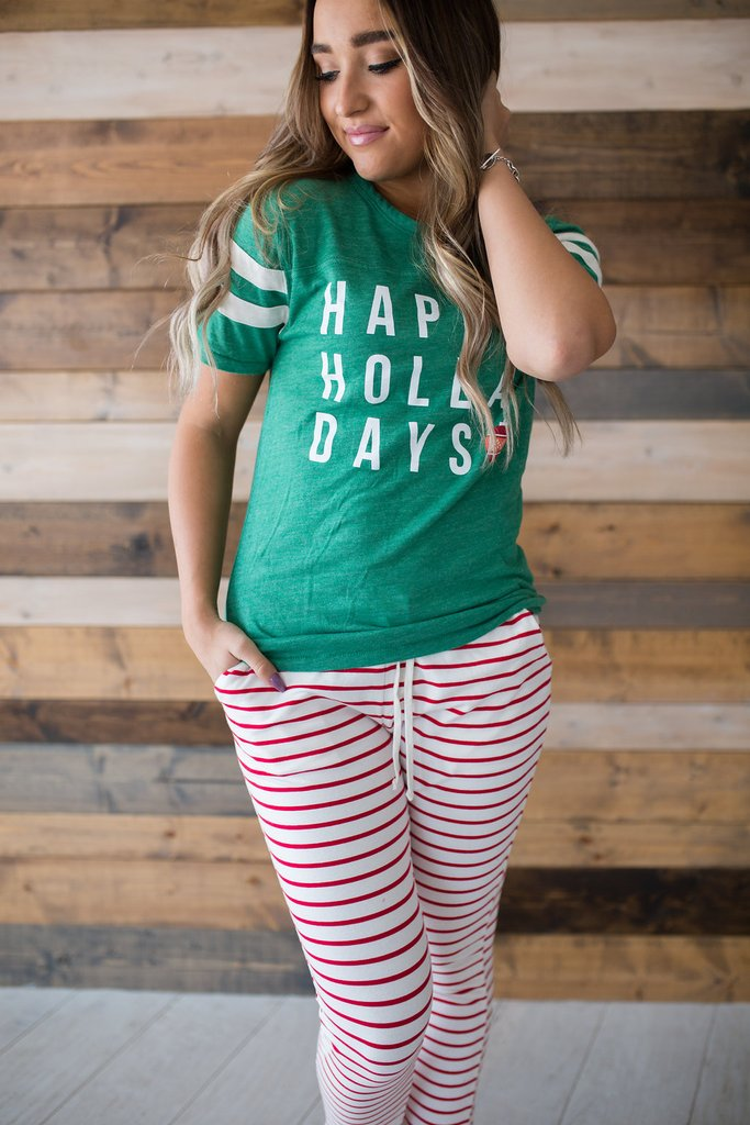 Happy Holla Days Tee - MOB Fashion Boutique