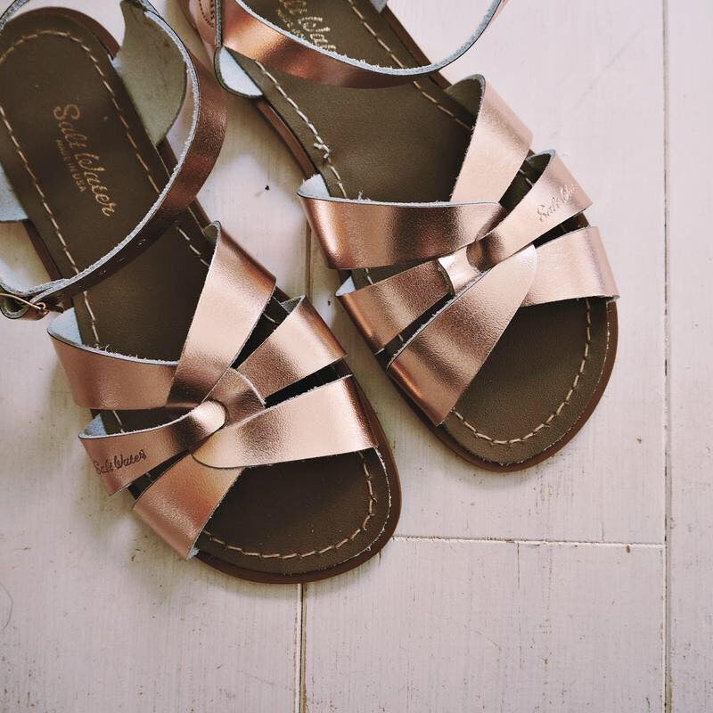 Salt Water Sandals | Rose Gold - MOB Fashion Boutique