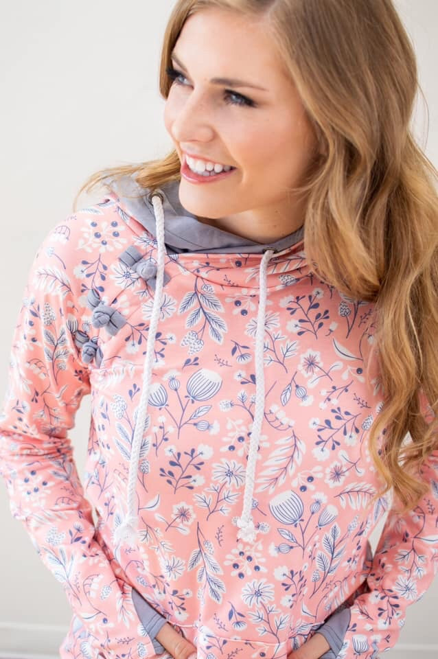 Spring Florals Hoodie | Nursing Option Available - MOB Fashion Boutique
