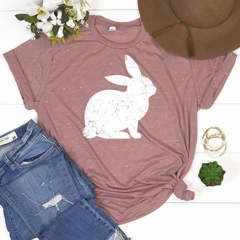Bunny Hop Easter Tee - MOB Fashion Boutique