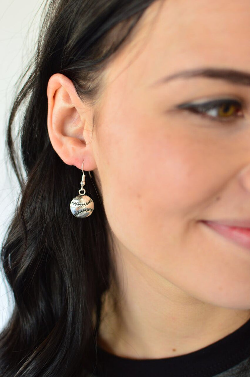 Baseball Earrings | Siver - MOB Fashion Boutique