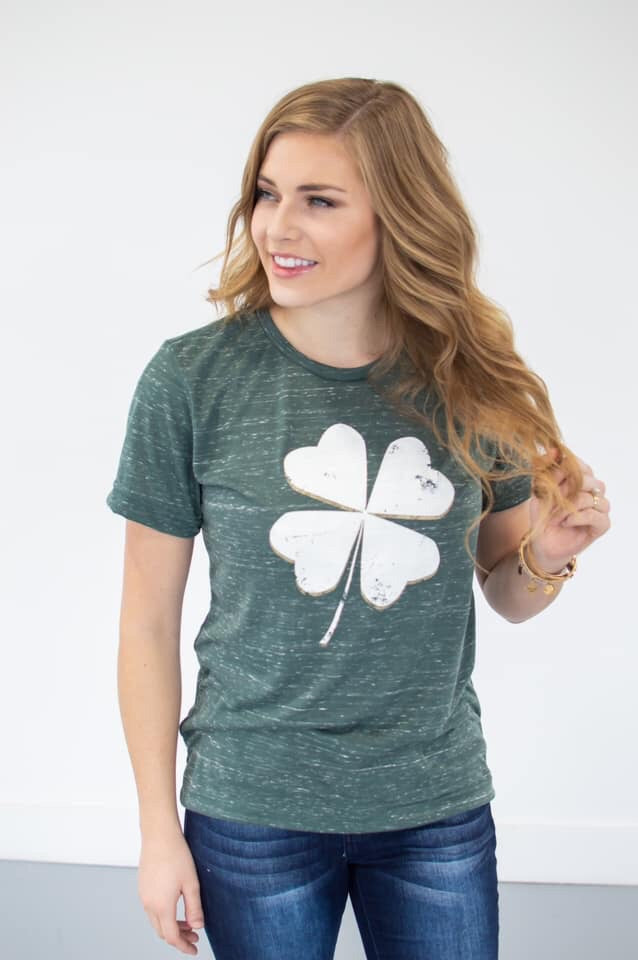 Get Lucky Shamrock Tee - MOB Fashion Boutique