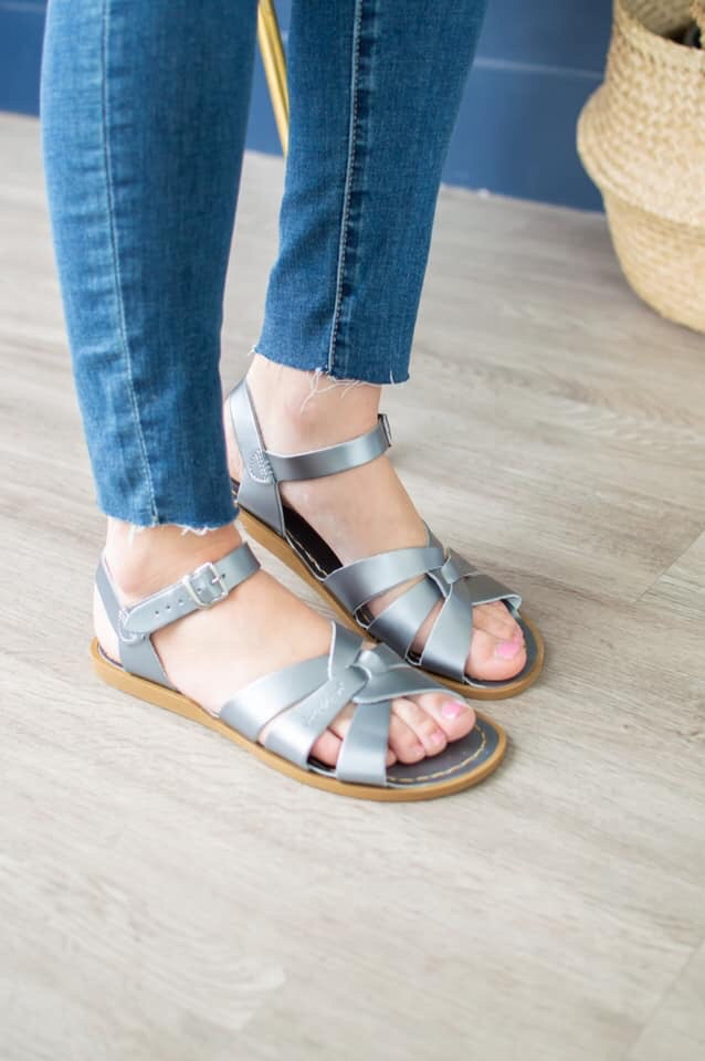 Salt Water Sandals | Pewter - MOB Fashion Boutique