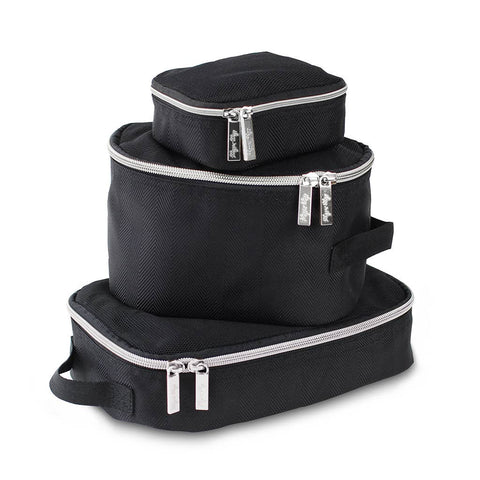 Black & Silver Travel Diaper Bag Packing Cubes